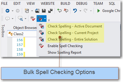 20  BulkSpellCheckingOptionsonToolbar