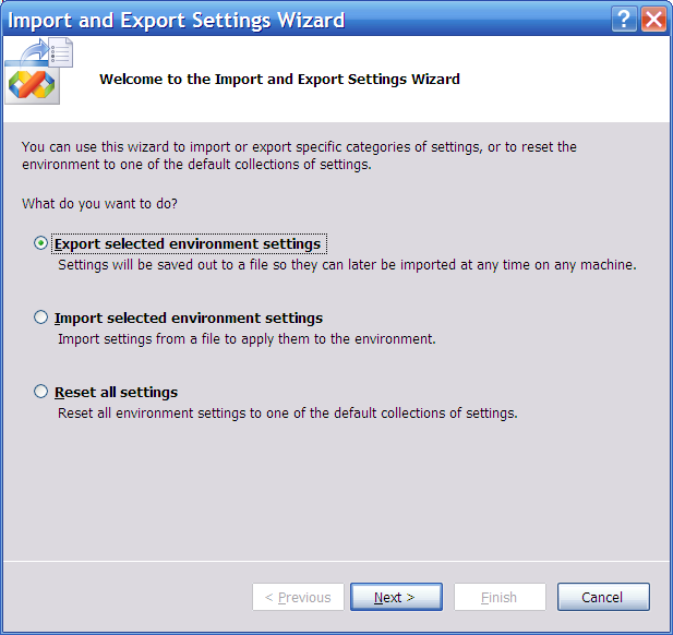 How To : How to Backup and Restore Visual Studio settings